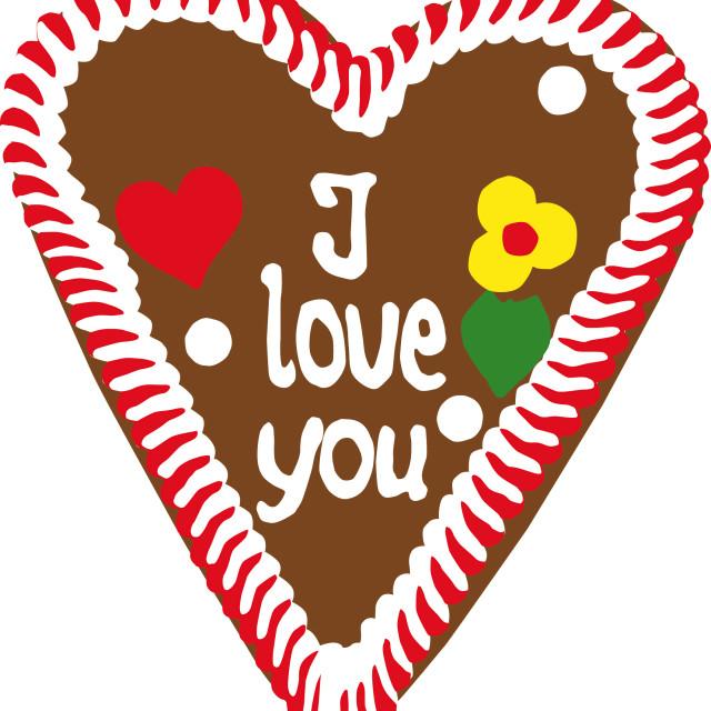 """Oktoberfest Gingerbread Heart"" stock image"