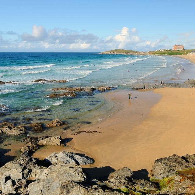 """Fistral Beach Newquay"" stock image"