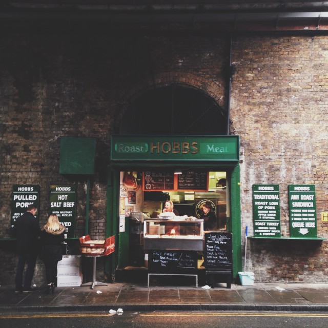 """Hobbs at Borough Market"" stock image"