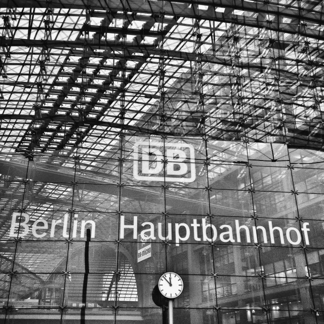 """Berlin Central Station"" stock image"