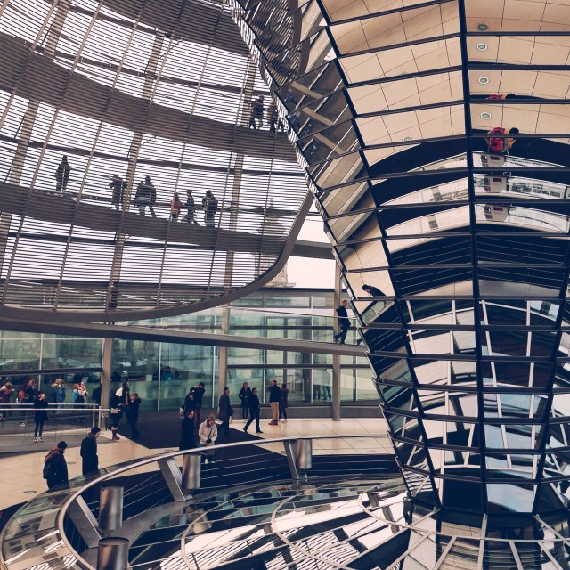 """Berlin's Reichstag Dome"" stock image"
