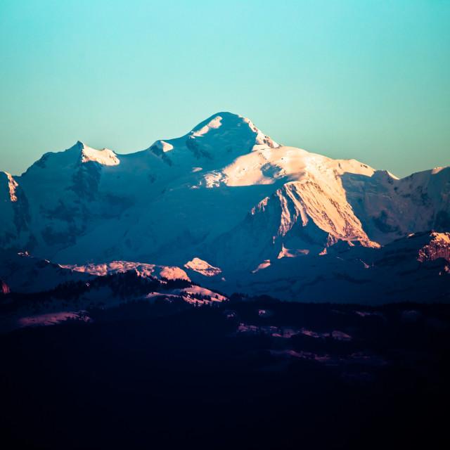 """Mt Blanc"" stock image"