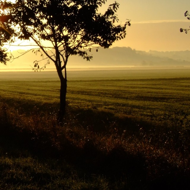 """Sunrise near Lincoln"" stock image"