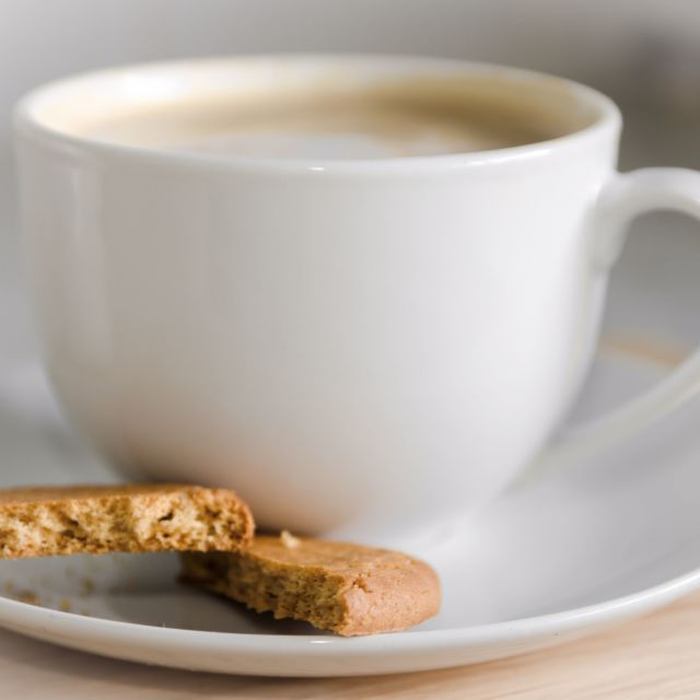 """""""Coffee and biscuit"""" stock image"""