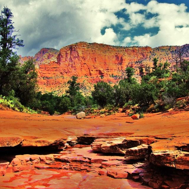 """Oak Creek Canyon"" stock image"