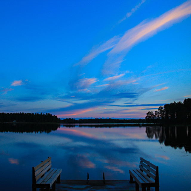 """Summer Night in Northern Finland"" stock image"