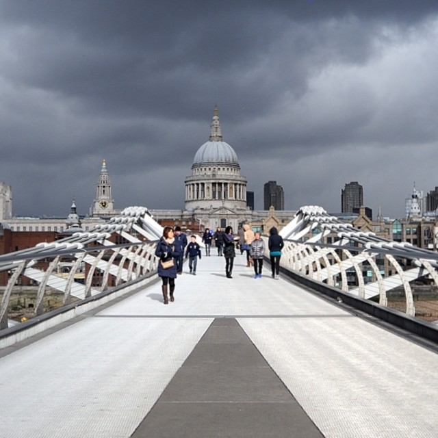 """Millennium Bridge 1"" stock image"