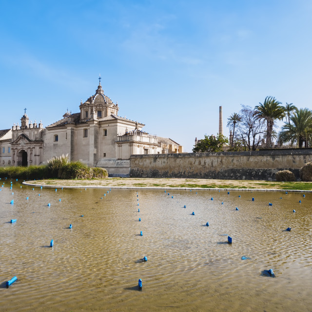 """""""Monastery of the Cartuja, ex Ceramic tile factory Seville Spain"""" stock image"""