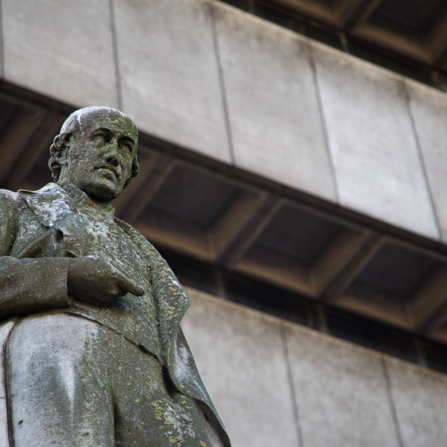"""James Watt and Birmingham Central Library"" stock image"