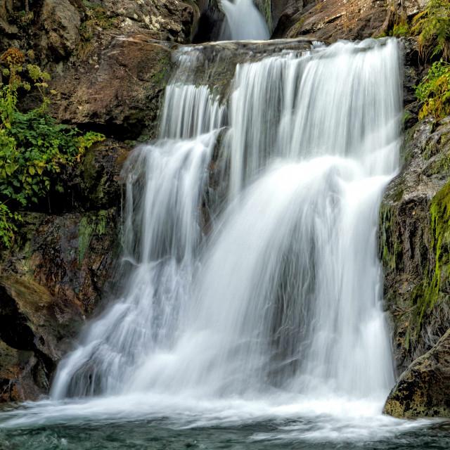 """Beautiful veil cascading waterfall"" stock image"