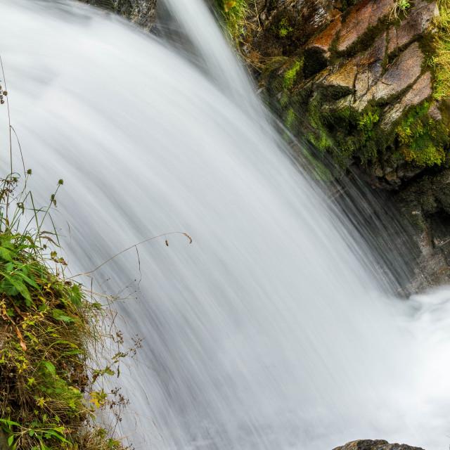 """Beautiful veil cascading waterfalls"" stock image"