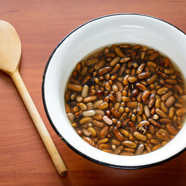"""Brown Beans in Water"" stock image"