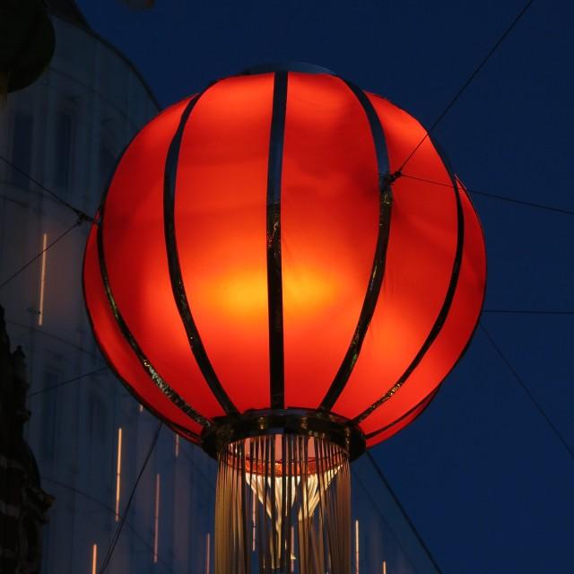 """""""Glowing lantern"""" stock image"""