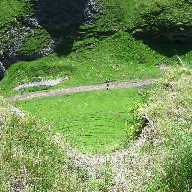 """Cave Dale, Castleton, Peak District National Park"" stock image"
