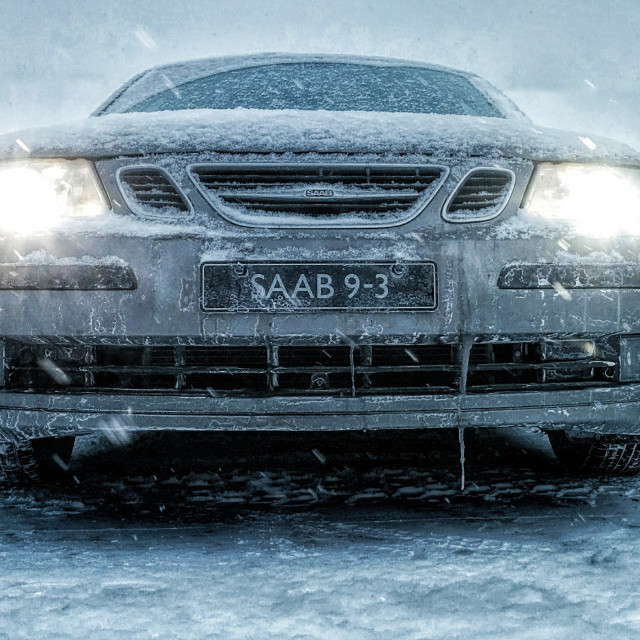 """Winter War Paint: SAAB"" stock image"