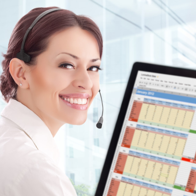 """""""Customer Support"""" stock image"""
