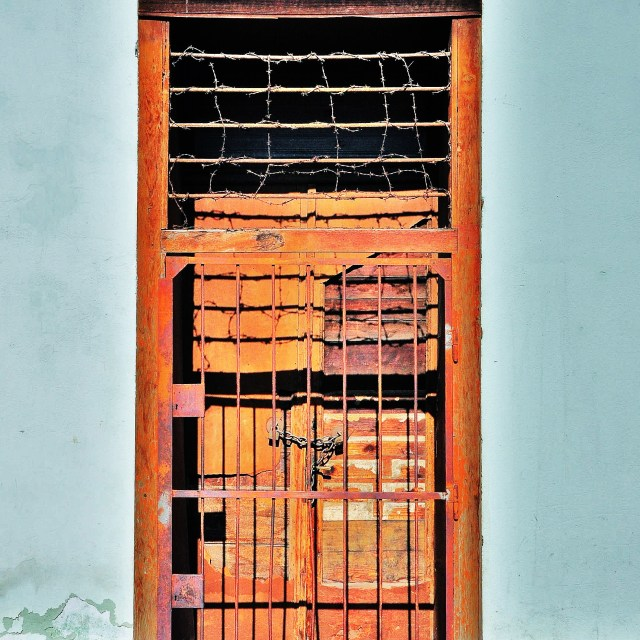 """Rusty Entrance"" stock image"