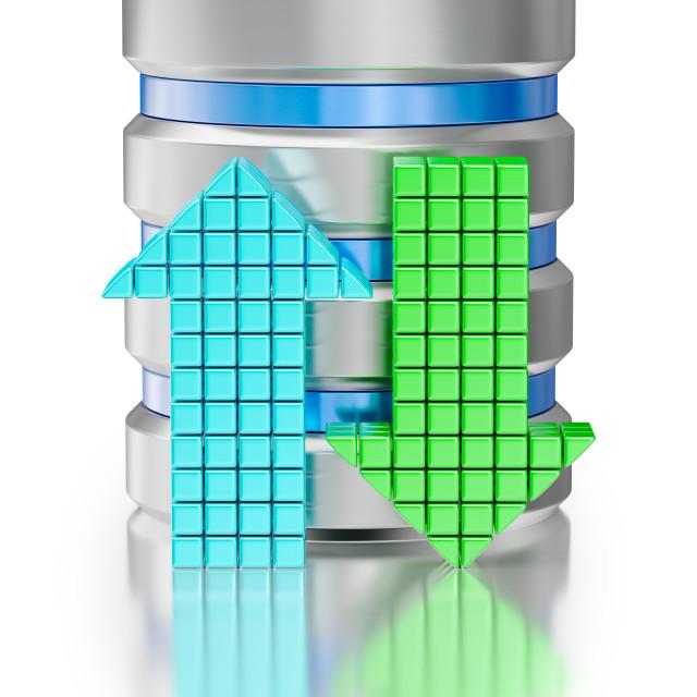 """""""Hard disk drive data storage database icon symbol"""" stock image"""