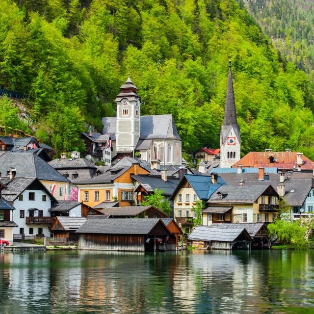 """""""Hallstatt village, Austria"""" stock image"""