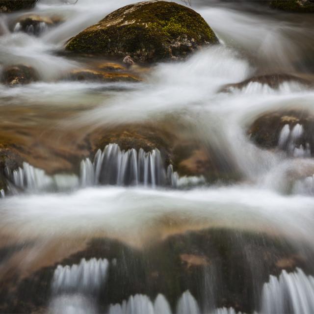 """Cascade of Sibli-Wasserfall. Rottach-Egern, Bavaria, Germany"" stock image"