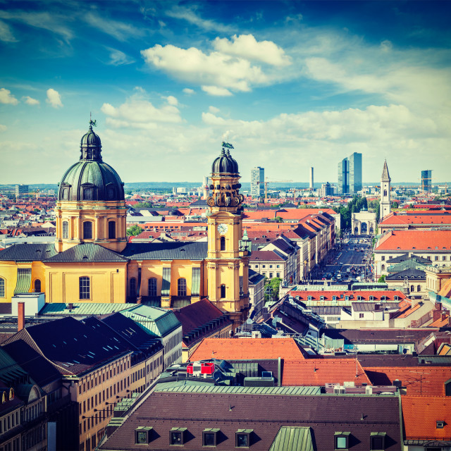 """""""Aerial view of Munich"""" stock image"""