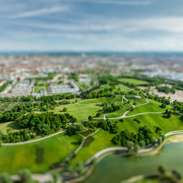"""""""Aerial view of Olympiapark, Munich, Germany"""" stock image"""