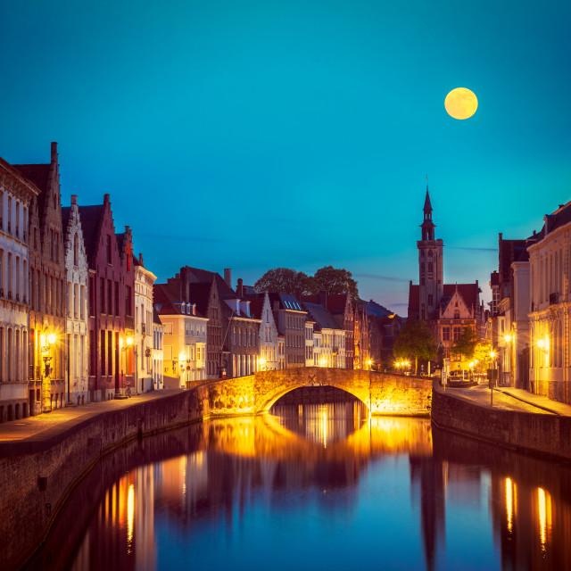 """Bruges Brugge, Belgium"" stock image"