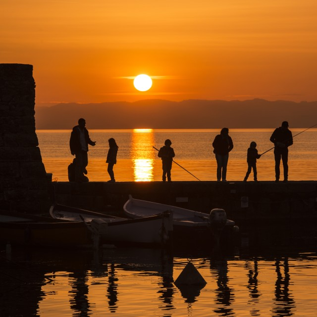 """The Family sunset"" stock image"