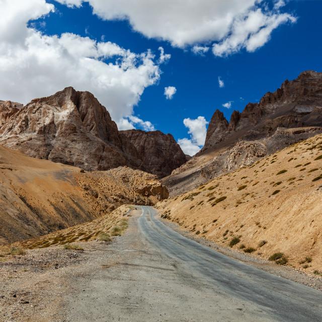 """""""Manali-Leh road to Ladakh in Indian Himalayas. Ladakh, India"""" stock image"""