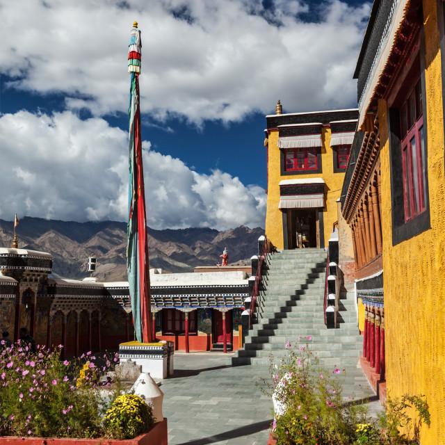 """Thiksey gompa (Tibetan Buddhist monastery). Ladakhm, India"" stock image"