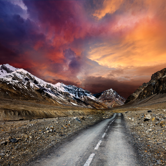 """Road in mountains"" stock image"