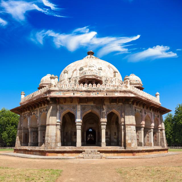 """Isa Khan Tomb in Humayun's Tomb Complex. Delhi, India"" stock image"