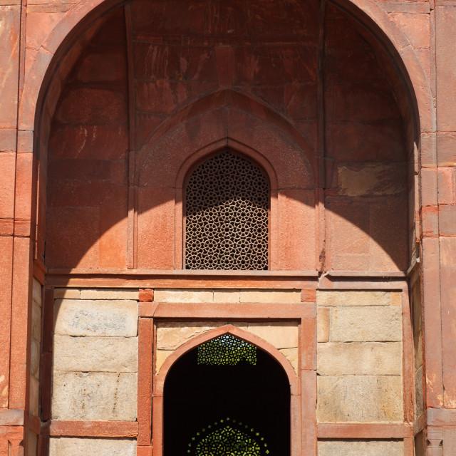"""Barber Tomb in Humayun Tomb complex. Delhi, India"" stock image"