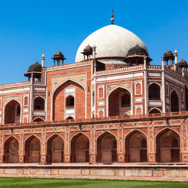 """Humayun's Tomb. Delhi, India. UNESCO World Heritage Site"" stock image"