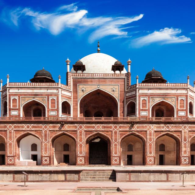 """Humayun's Tomb. Delhi, India. UNESCO World Heritage Site. Frontal View"" stock image"