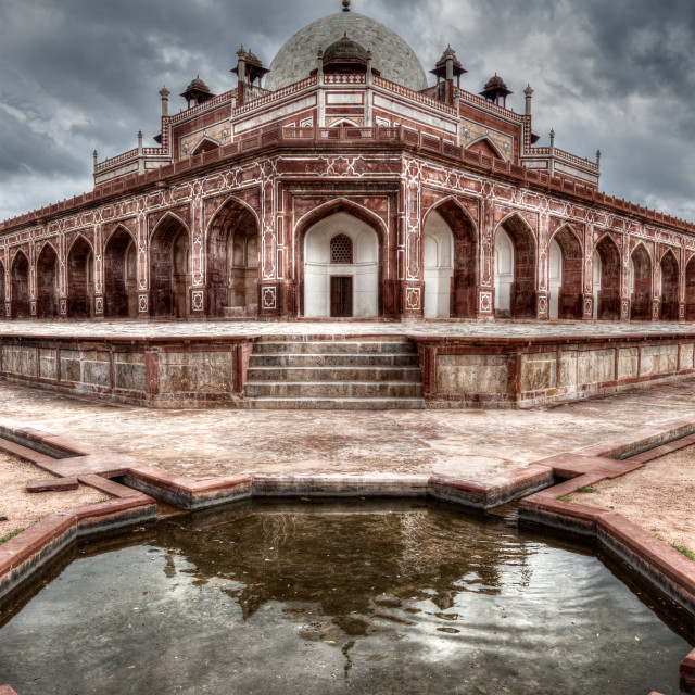 """Humayun's Tomb. Delhi, India. HDR image"" stock image"