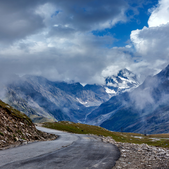 """""""Road in Himalayas"""" stock image"""