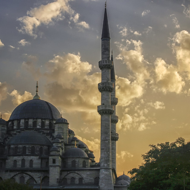 """Istanbul mosque at sunset"" stock image"