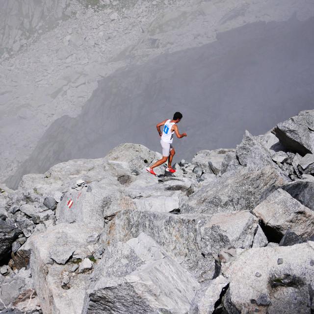 """Kilian Jornet at Trofeo Kima"" stock image"