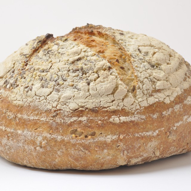 """Organic wholegrain bread"" stock image"