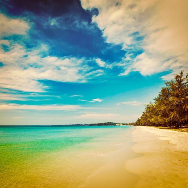 """Sihanoukville beach, Cambodia"" stock image"