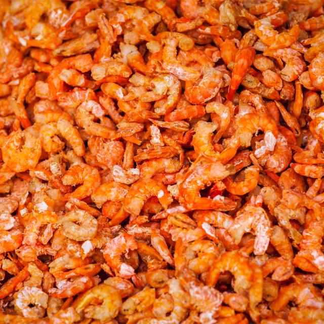 """Dried shrimps close up"" stock image"