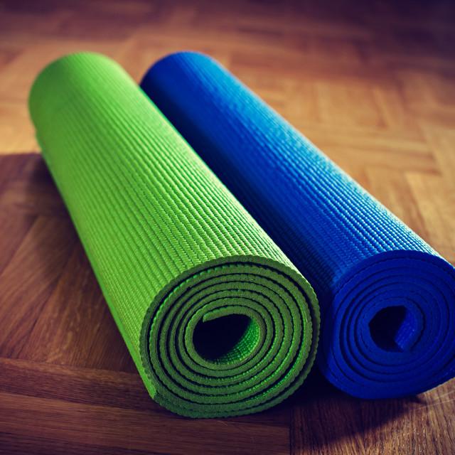 """Yoga mat"" stock image"