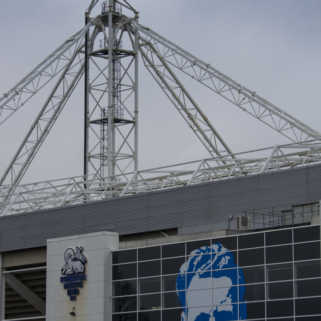 """Preston North End Football Stadium"" stock image"