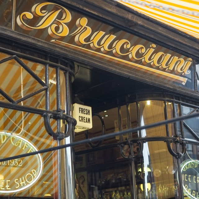 """Brucciani's Ice Cream Parlour, Preston"" stock image"