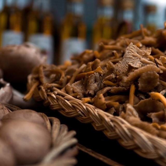 """Market, Funghi Mushrooms"" stock image"