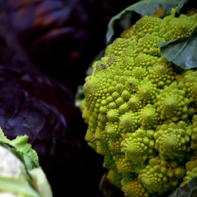 """Market, Cauliflower"" stock image"