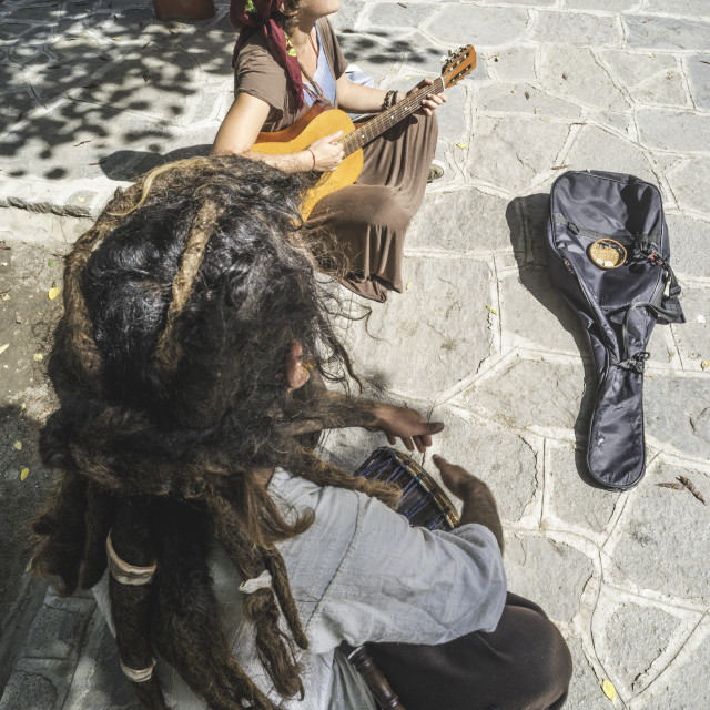 """Street musicians"" stock image"
