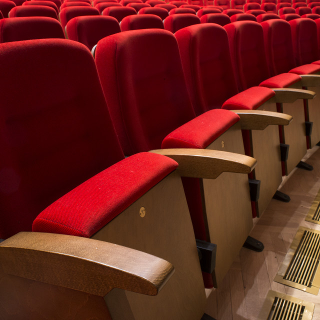"""Seats in a theater and opera"" stock image"