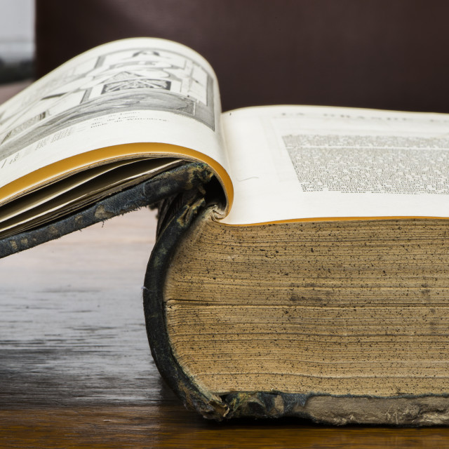 """""""Open old book"""" stock image"""